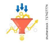 sales funnel concept... | Shutterstock .eps vector #717427774