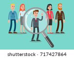searching for the candidate.... | Shutterstock .eps vector #717427864