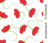 corn poppy seamless pattern | Shutterstock .eps vector #717428440