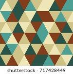 vector triangle seamless pattern | Shutterstock .eps vector #717428449