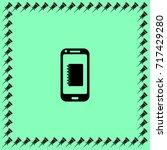 smartphone  icon  notes vector...