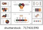 ten research slide templates set | Shutterstock .eps vector #717431590