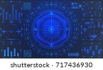 hud futuristic element user... | Shutterstock .eps vector #717436930