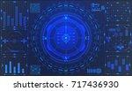 hud futuristic element user... | Shutterstock .eps vector #717436930