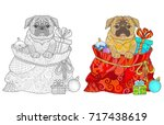 Dog Pug And New Year\'s Gifts I...