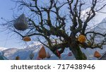 decoration on the tree...   Shutterstock . vector #717438946