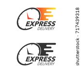express delivery icon concept.... | Shutterstock .eps vector #717439318