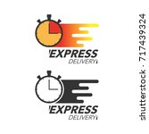 express delivery icon concept.... | Shutterstock .eps vector #717439324