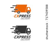 express delivery icon concept.... | Shutterstock .eps vector #717439588