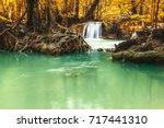 seasons of leaves change color... | Shutterstock . vector #717441310