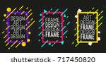 vector frames with geometric... | Shutterstock .eps vector #717450820