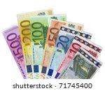 euro money banknotes | Shutterstock . vector #71745400