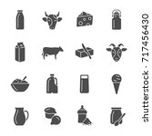 milk products icons | Shutterstock .eps vector #717456430