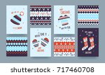 set of cute illustrated... | Shutterstock .eps vector #717460708