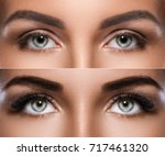 eyebrow microblading and... | Shutterstock . vector #717461320