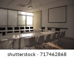 meeting room for a conference. | Shutterstock . vector #717462868