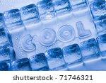 ice cubes   aqua | Shutterstock . vector #71746321