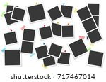 big set of square vector photo... | Shutterstock .eps vector #717467014
