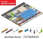 vector isometric infographic... | Shutterstock .eps vector #717469624