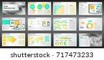 abstract vector business... | Shutterstock .eps vector #717473233