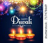happy diwali. traditional... | Shutterstock .eps vector #717478669