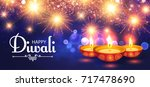 happy diwali. traditional... | Shutterstock .eps vector #717478690