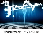 target hit in the center by... | Shutterstock . vector #717478840