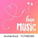 vector earphones with connector ... | Shutterstock .eps vector #717480280