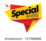 special offer banner   vector... | Shutterstock .eps vector #717480880