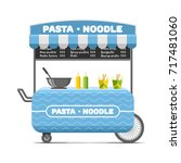 pasta and noodle street food... | Shutterstock .eps vector #717481060