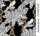 damask seamless pattern... | Shutterstock . vector #717487210