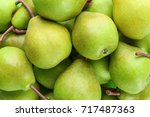 delicious ripe pears as... | Shutterstock . vector #717487363
