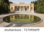 reflection of the fire temple... | Shutterstock . vector #717490699
