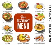 thai cuisine food traditional... | Shutterstock .eps vector #717491614