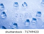 ice cubes   aqua | Shutterstock . vector #71749423