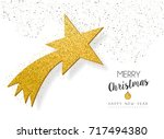 merry christmas and happy new... | Shutterstock .eps vector #717494380