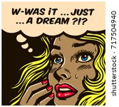 pop art style comic book panel... | Shutterstock .eps vector #717504940
