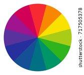 twelve part rgb color wheel....   Shutterstock .eps vector #717505378
