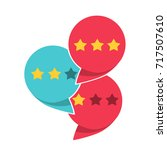 review rating icon  flat style... | Shutterstock .eps vector #717507610