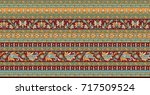 seamless traditional indian... | Shutterstock . vector #717509524