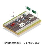 smart city infrastructure... | Shutterstock .eps vector #717510169