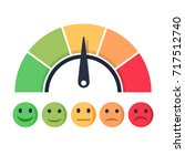 customer satisfaction meter... | Shutterstock .eps vector #717512740