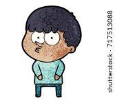 cartoon curious boy   Shutterstock .eps vector #717513088