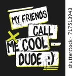 tee print design for kids... | Shutterstock .eps vector #717513943