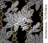 antique golden repeatable... | Shutterstock .eps vector #717514816