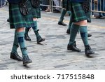 scottish kilt  | Shutterstock . vector #717515848