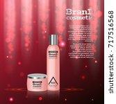 3d realistic cosmetic bottle...   Shutterstock .eps vector #717516568