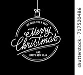 merry christmas vector text... | Shutterstock .eps vector #717520486