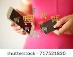 e commerce online shopping... | Shutterstock . vector #717521830