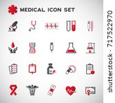 medical icons set vector | Shutterstock .eps vector #717522970